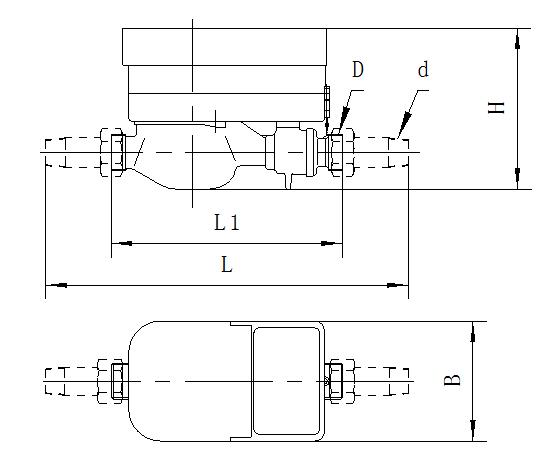 Rotor type water meter (small)