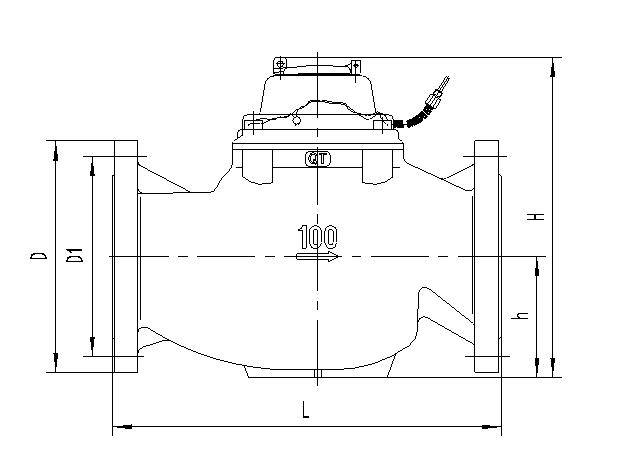 Vertical Wing Dry Signal Water Meter